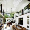 Dual Level Home Design Whie Ceiling Serene Sun House