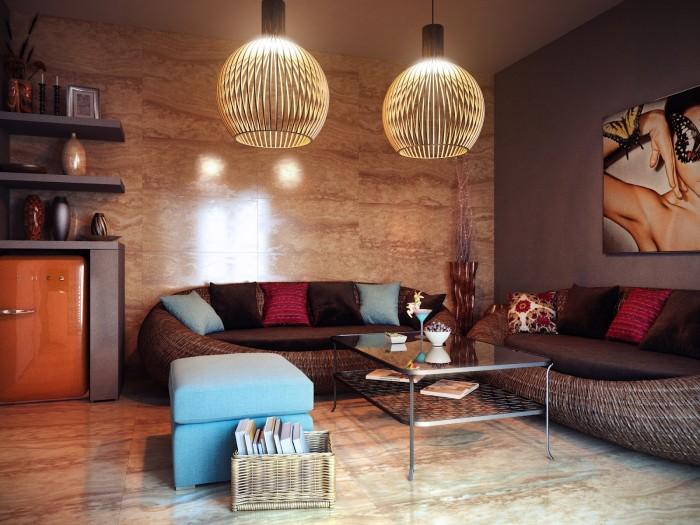 Eclectic Guest House Unique Lamp  Brilliant Design Work