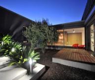 Exterior Modern Courtyard Stunning Modern Family Wooden Deck