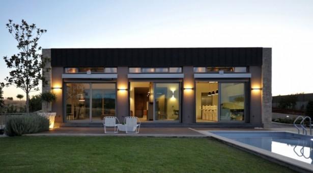 Exterior Modern Greece Home Stunning Modern Family Green Lawn