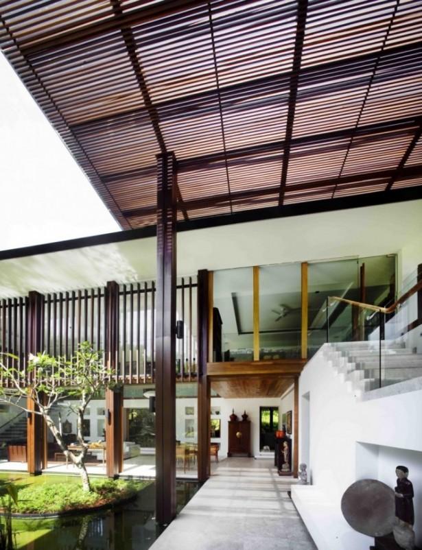 Exterior Staircase Soft Grey Floor Serene Sun House