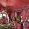 Feminine Opulent Russian Palace Fabric Pink Room