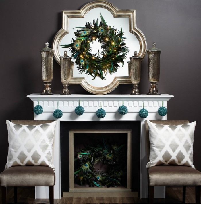 Formal Christmas Mantel Decor Mantel Decor Inspiration Grey Sofa