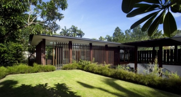 Garden Lawn Serene Sun House Wooden House Ideas
