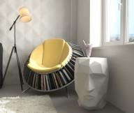 Glass Window Magazine Rack Chair Reading Spaces Design