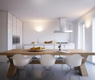 Glass Window White Modern Dining Chairs Bright And Beautiful Home