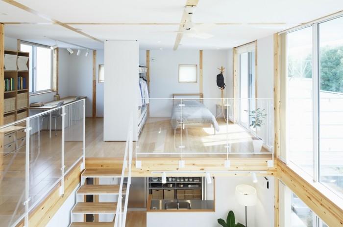 Glass Windows Wooden Floor Japanese Style Interior Design
