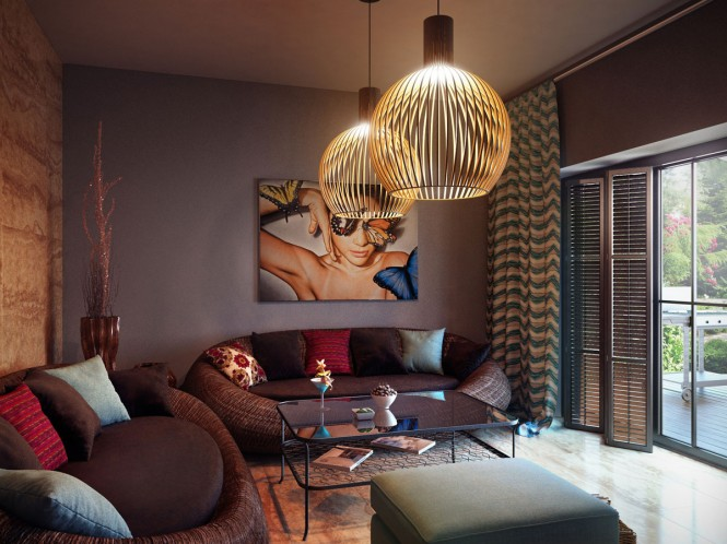Gray Brown Living Room Copy Unique LampModern Living Rooms