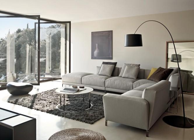 Gray Sectional Sofa Modern Sofa Ideas Glass Wall