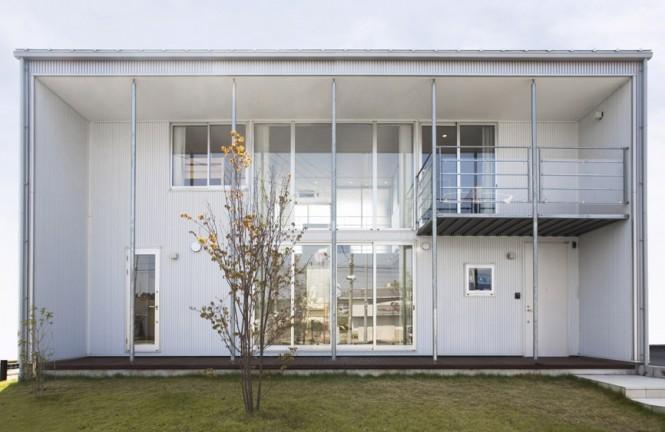 Green Lawn Japanese Architecture Minimalist Japanese Prefab
