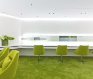 Green Office Inspiration Green Chairs White Wall