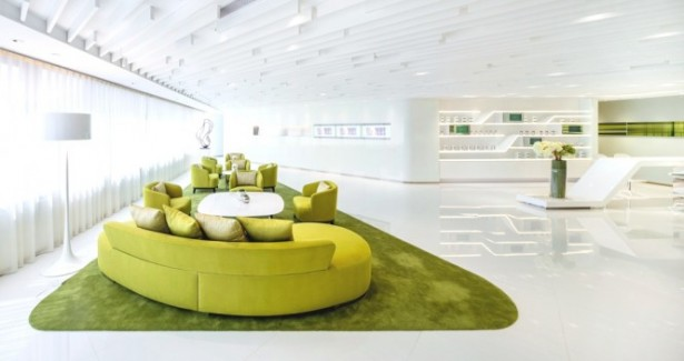 Green Office Inspiration Green Sofas For Large Space