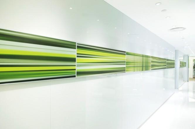 Green Office Inspiration Green Wall Art Smart Lighting