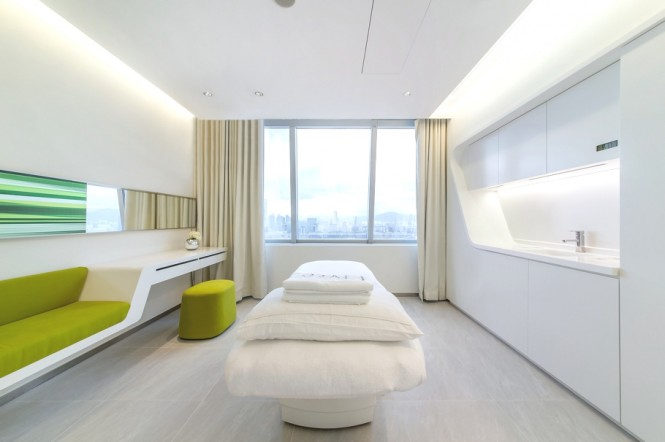 Green Office Inspiration Treatment Room White Pillow