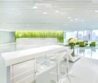 Green Office Inspiration White Workspace Green Chairs