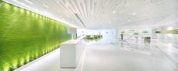 Green Wall Green Feature Wall Green Office Inspiration