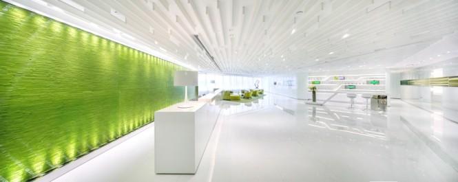 Green Wall Green Feature Wall Green Office Inspiration