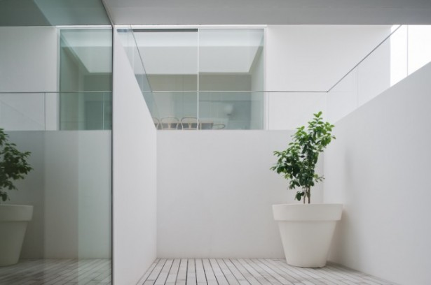 House With The Simplest Of Forms Alcove With Planting