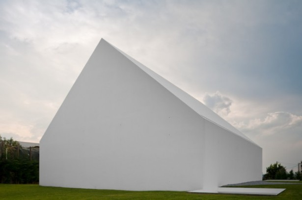 House With The Simplest Of Forms House Silhouette White Wall
