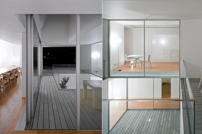 House With The Simplest Of Forms Interior Grey Wooden Floor
