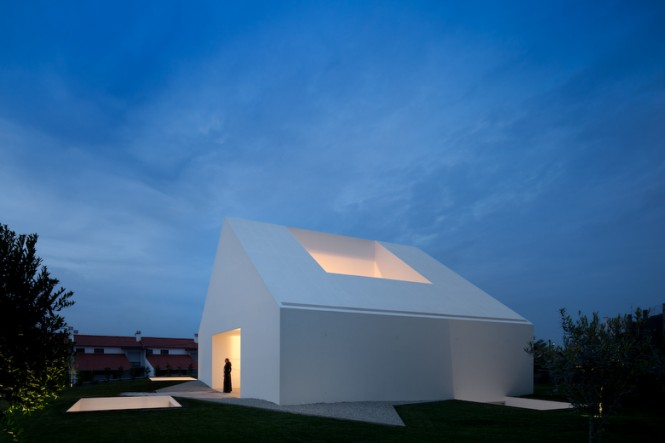 House With The Simplest Of Forms Openings In Stark Facade