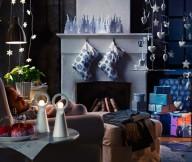 Indoor Decor Christmas Decor Ideas White Fireplace