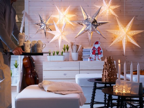 Indoor Decor Country Christmas Decor Ideas Star Lighting