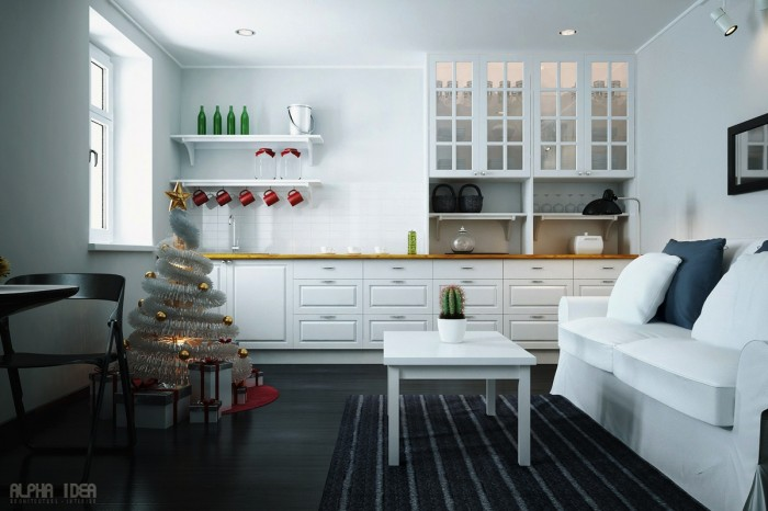 Indoor Decor Ideas Minimalist Christmas Decor Dark Floor : KVRiver.