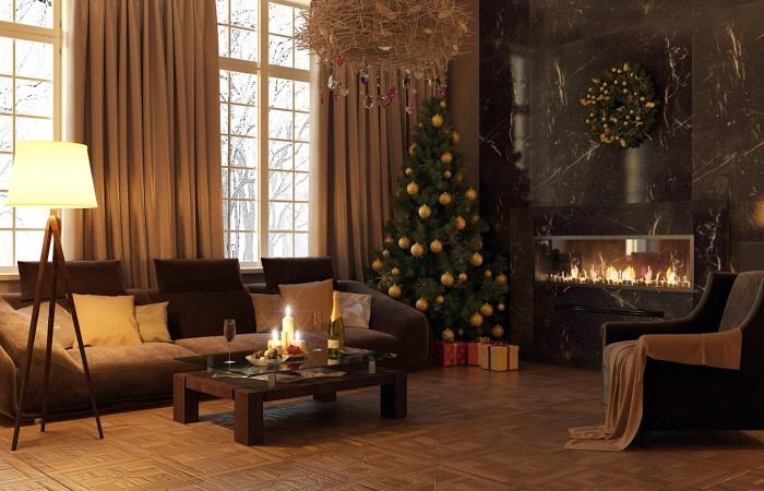 Indoor Decor Ideas Modern Christmas Decor Modern Fireplace