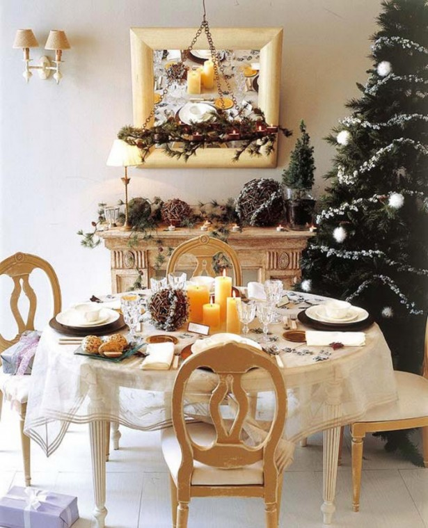 Indoor Decor Ideas Natural Christmas Decor Round Table