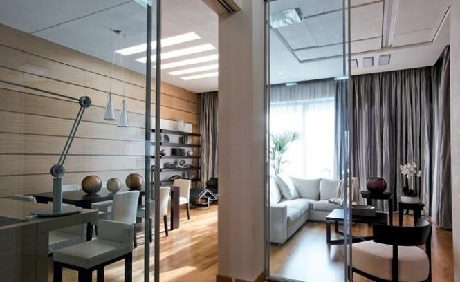 Internal Glazed Doors Wooden Floor Artistic Interior Renders