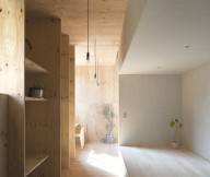 Japanese Minimalism Design  Contemporary Japanese Interior Wooden Cupboard