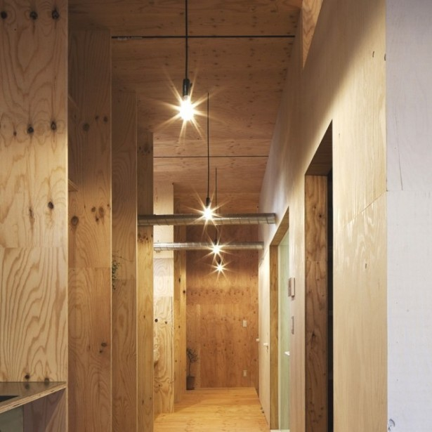 Japanese Minimalism Design  Timber Hallway Wooden Floor