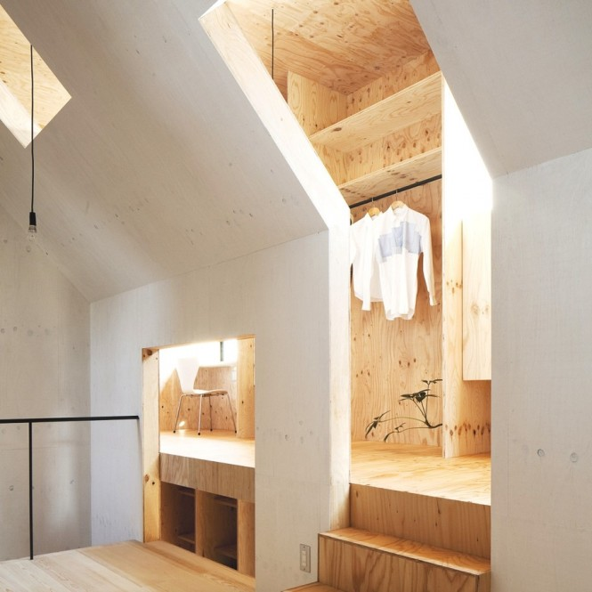 Japanese Minimalism Design  Walk In Closet Simple Hanger