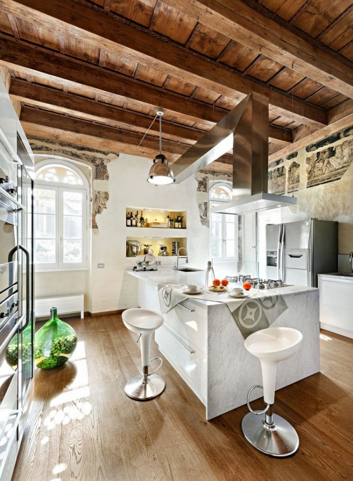 Kitchen Island Designs Rustic Kitchen Island Wooden Floor