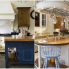 Kitchen Island Designs Rustic Kitchens Bright Lighting