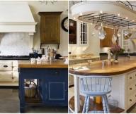 Kitchen Island Designs Rustic Kitchens Bright Lighting