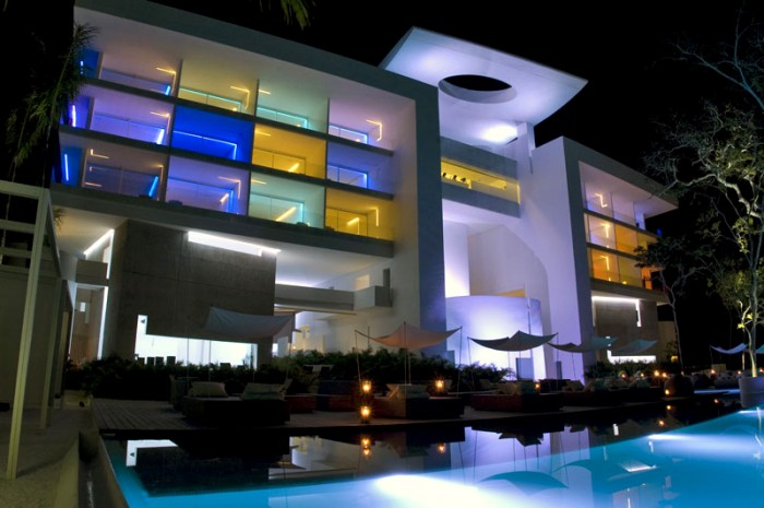 Luxury Hotel White Wall Luxury Pool Modern Hotel Encanto