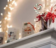 Mantel Decor Inspiration Christmas Card Decorating Ideas Unique Lamp