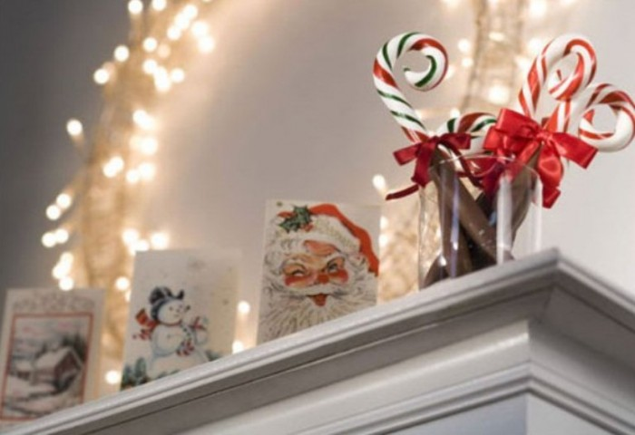 Mantel Decor Inspiration Christmas Card Decorating Ideas Unique Lamp