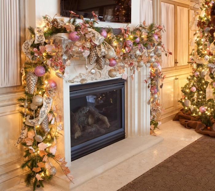 Mantel Decor Inspiration Romantic Christmas Mantel Decorations