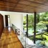 Mezzanine Landingwooden Floor Hite Wall Serene Sun House