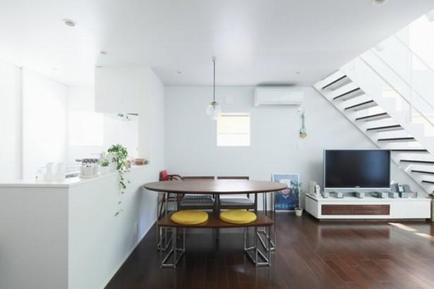 Minimalist Dining Room Brown Wooden Japanese Style Interior Design
