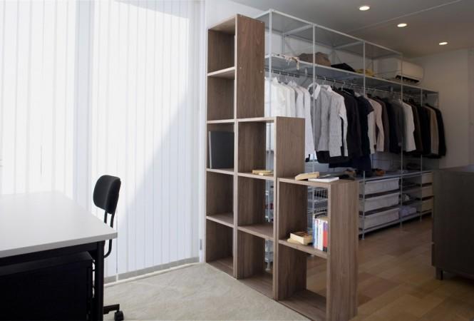 Minimalist Japanese Prefab Room Divider Shelves Wooden Bookshleves