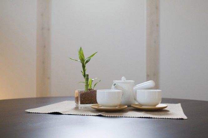 Minimalist Japanese Prefab White Tea Set Coffe Cup
