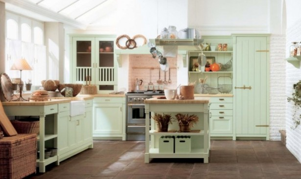 Mint Green Country Kitchen DecorCountry Kitchens With Italian Style