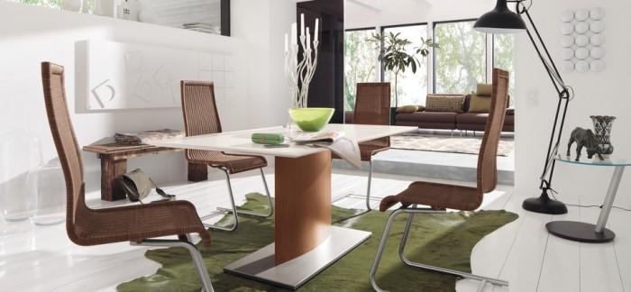 Modern Artistic Dining Set Green Carpet Modern Dining Rooms