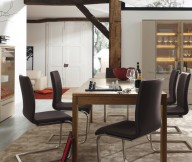 Modern Brown Dining Room Black Chairs Modern Dining Rooms