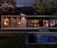 Modern Concrete Home Large Garden  Brilliant Design Work