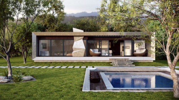 Modern Country Home Outdoor Pool  Brilliant Design Work